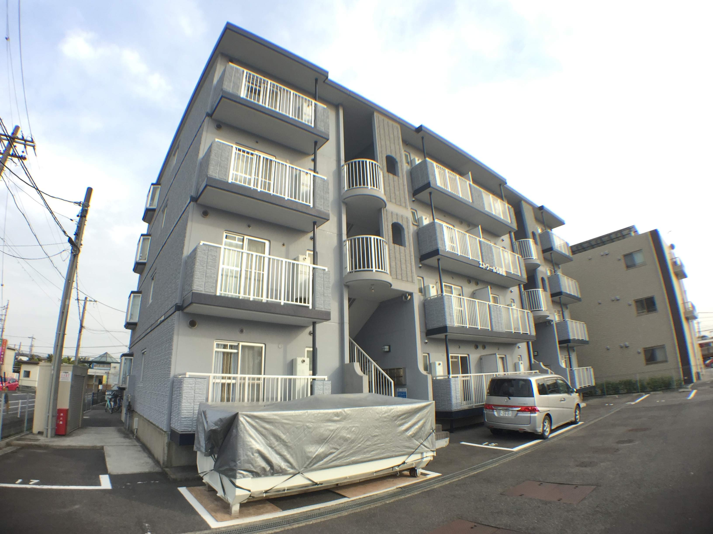 愛知県弥富市、佐古木駅徒歩2分の築20年 4階建の賃貸マンション