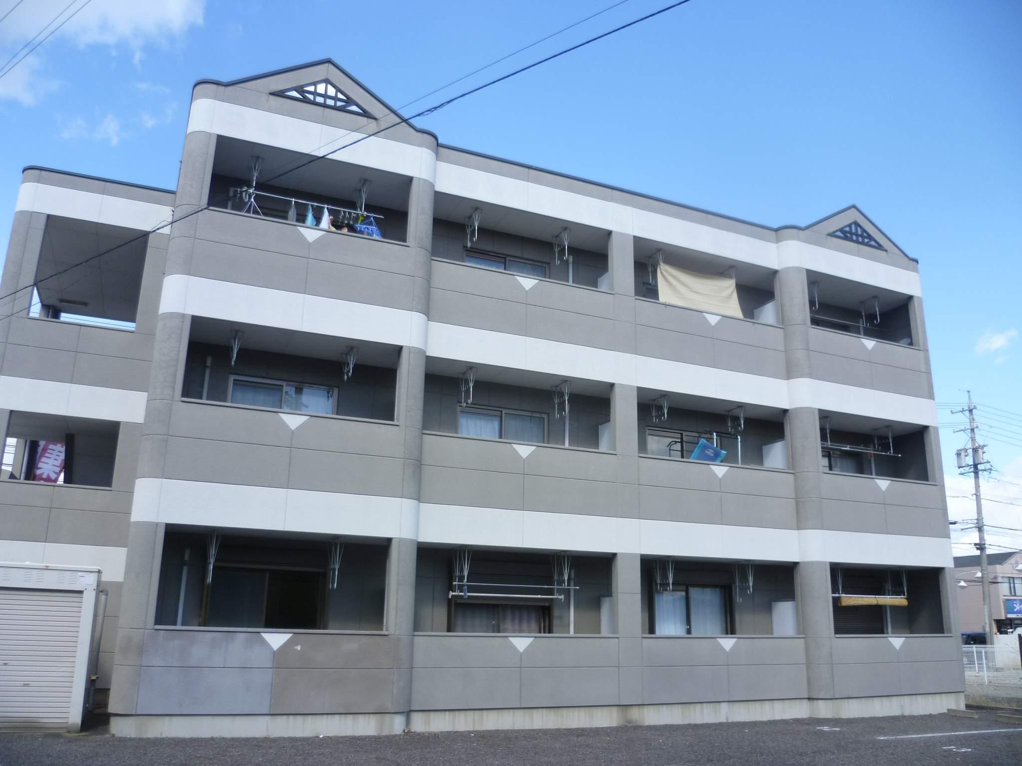 愛知県犬山市、木津用水駅徒歩12分の築19年 3階建の賃貸マンション