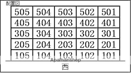 愛知県北名古屋市西之保立石[1K/20m2]の配置図