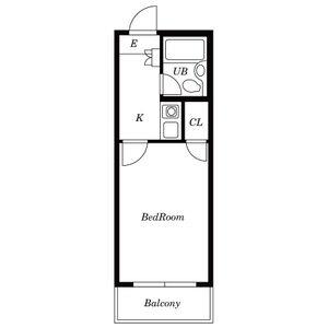 岩倉第3レジデンス[1K/17.21m2]の間取図