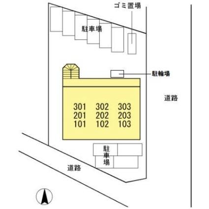 Ma Maison Momoyama[1LDK/42.4m2]の配置図