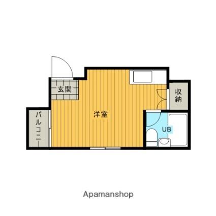 愛知県名古屋市南区岩戸町[1R/19m2]の間取図