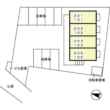 愛知県碧南市丸山町2丁目[1K/30.27m2]の配置図