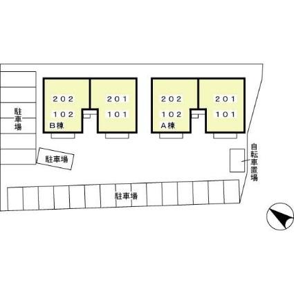 愛知県碧南市札木町2丁目[2LDK/55.44m2]の配置図