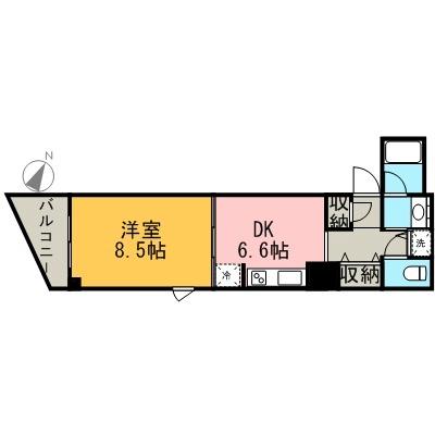 愛知県名古屋市東区泉1丁目[1K/29.1m2]の間取図