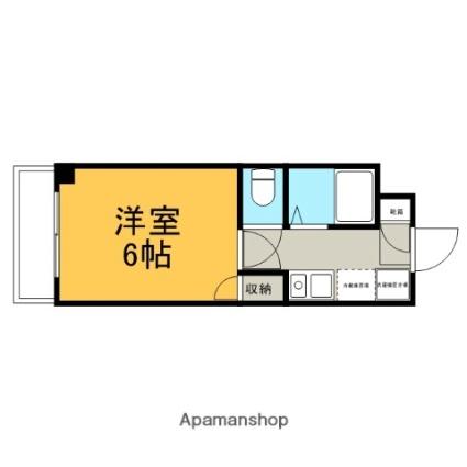サンマンション大曽根[1K/20.61m2]の間取図