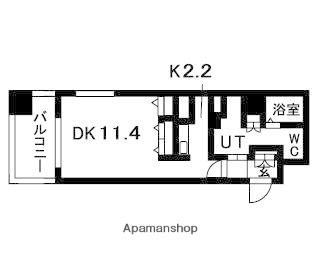 N.S.ZEAL大曽根[1K/37.6m2]の間取図