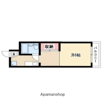 守山アートハイツ[1K/21m2]の間取図