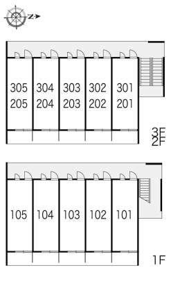 レオパレス常[1K/19.87m2]の内装2