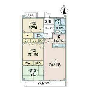 グランハート[3LDK/77.75m2]の間取図