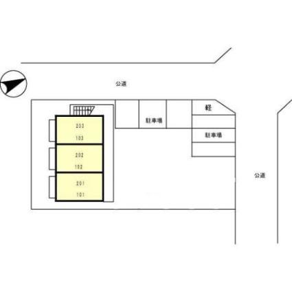 エスポワール[1LDK/40.08m2]の配置図