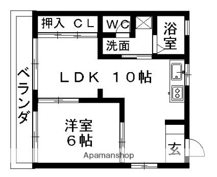 コーポ小幡[1LDK/40m2]の間取図