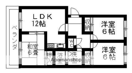 愛知県名古屋市守山区大屋敷[3LDK/71.49m2]の間取図