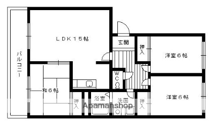 フォレストハウス[3LDK/71.49m2]の間取図