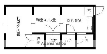 愛知県名古屋市守山区小幡3丁目[2DK/29.16m2]の間取図