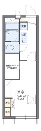 レオパレス小幡ヶ原[1K/22.35m2]の間取図