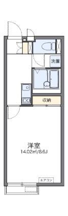 レオネクストゆずり葉の里上野山[1K/26.08m2]の間取図