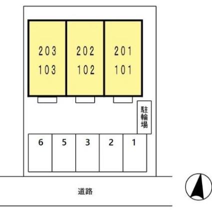 愛知県名古屋市東区大幸4丁目[1LDK/33.61m2]の配置図