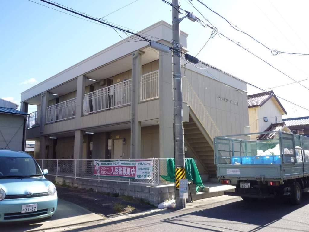 愛知県春日井市、勝川駅名鉄バス7分如意申下車後徒歩11分の築29年 2階建の賃貸アパート
