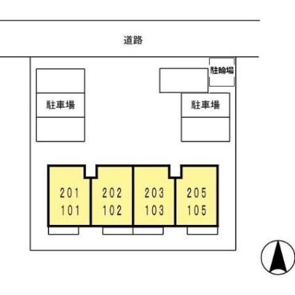 セジュール下条[2DK/40m2]の配置図