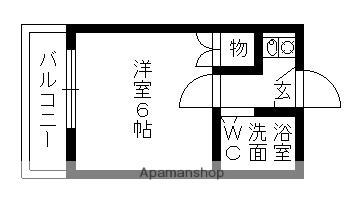 アシスト小幡南[1K/16m2]の間取図