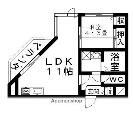 香林館[1LDK/41.3m2]の間取図