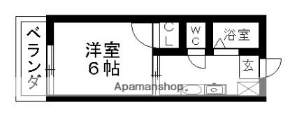カレッジサイド寺田(学生専用)[1K/17.01m2]の間取図