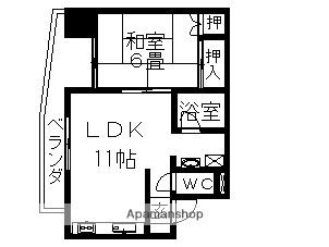 末広マンション[1LDK/38.24m2]の間取図