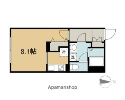愛知県名古屋市中区平和1丁目[1K/25.95m2]の間取図