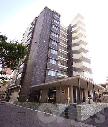 愛知県名古屋市東区、東大手駅徒歩7分の築3年 9階建の賃貸マンション