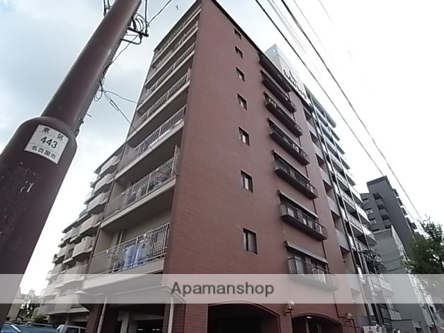 愛知県名古屋市東区、東大手駅徒歩10分の築40年 8階建の賃貸マンション