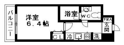 愛知県名古屋市東区泉1丁目[1K/24.01m2]の間取図
