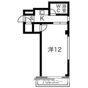 ピュアササキ[1K/29m2]の間取図