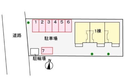 フレッサ 川崎[1LDK/46.09m2]の配置図