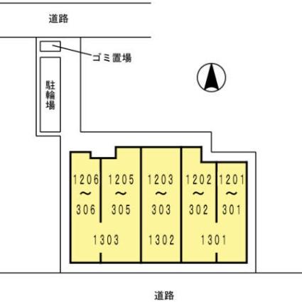 アン・ソレイユ[2LDK/59.71m2]の配置図