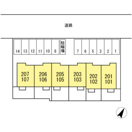 Bonne Maison[1LDK/33.14m2]の配置図