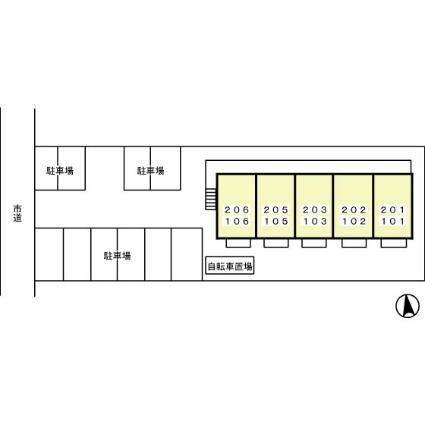 ヴィライン若宮[1LDK/33.39m2]の配置図