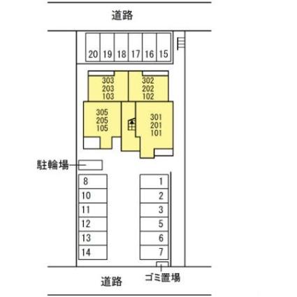 仮)Dーroom東橋良町[1LDK/35.61m2]の配置図