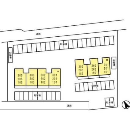 エアリースクエア A[2LDK/58.37m2]の配置図