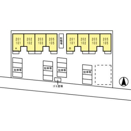 Villageさくら A[1LDK/41.27m2]の配置図