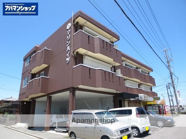 三重県津市、津新町駅徒歩27分の築36年 3階建の賃貸アパート