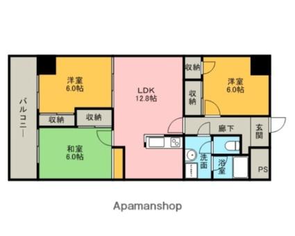 三重県津市柳山津興[3LDK/71m2]の間取図