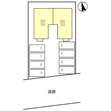 リストワール甲西[1LDK/47.61m2]の配置図