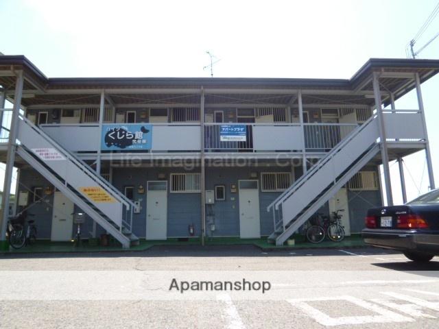 滋賀県東近江市、八日市駅近江バス8分東本町下車後徒歩3分の築43年 2階建の賃貸アパート