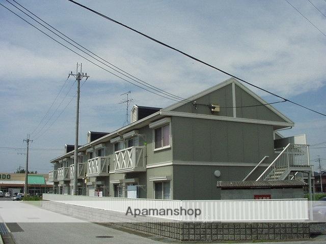 滋賀県東近江市、京セラ前駅徒歩30分の築24年 2階建の賃貸アパート