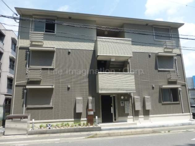 滋賀県大津市、大津京駅徒歩5分の新築 3階建の賃貸アパート