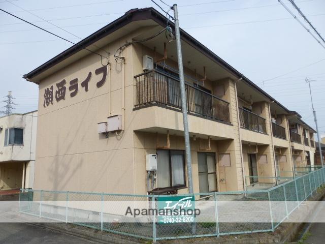滋賀県高島市、近江今津駅徒歩6分の築30年 2階建の賃貸アパート