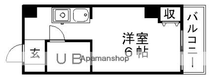 滋賀県大津市皇子が丘2丁目[1K/18m2]の間取図