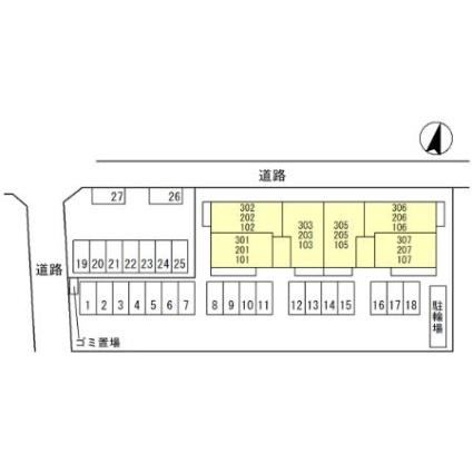 ベルコート川崎[1LDK/43.82m2]の配置図