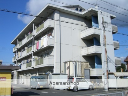 滋賀県湖南市、甲西駅徒歩9分の築24年 4階建の賃貸マンション